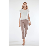 LOOSE - locker geschnittene Yogahose___Color---Taupe