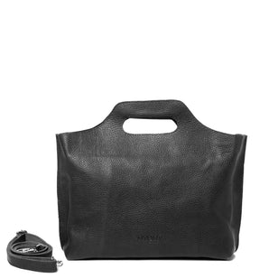MY CARRY BAG - Handtasche aus Leder___Material---Leder___Color---Schwarz