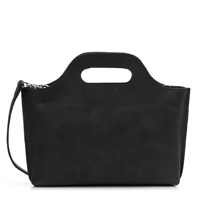 MY CARRY BAG MINI - Handtasche aus Leder___Material---Leder___Color---Schwarz