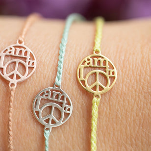 MY LITTLE PEACE - Armband mit Anhänger aus Sterlingsilber___Material---Sterling Silber___Color---Rose/Rosa
