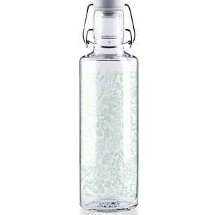 Plants make people happy - 0,6l Glasflasche___Material---Glas___Size---0.6L