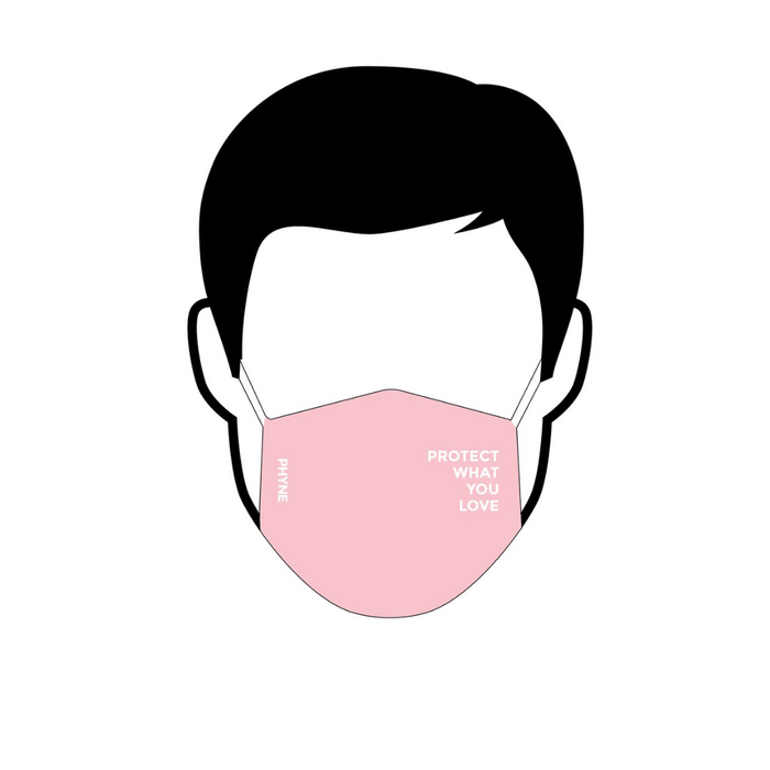 PROTECT WHAT YOU LOVE - Gesichtsmaske aus Bio-Baumwolle___Color---Rosa