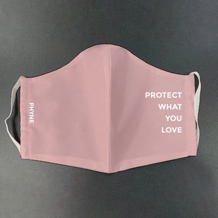 PROTECT WHAT YOU LOVE - Gesichtsmaske aus Bio-Baumwolle