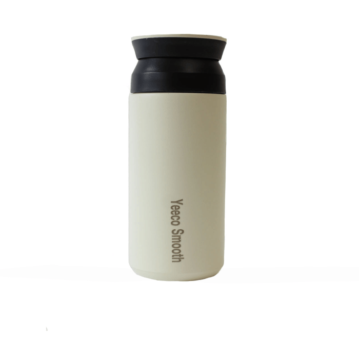 SMOOTH - Nachhaltiger Coffee Cup aus Edelstahl___Material---Edelstahl___Size---350 ml___Color---Beige