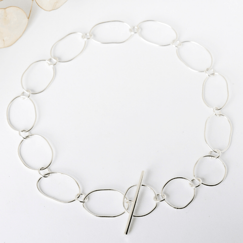 Thumbnail for STATEMENT LINK CHOKER - Kette aus recyceltem Silber