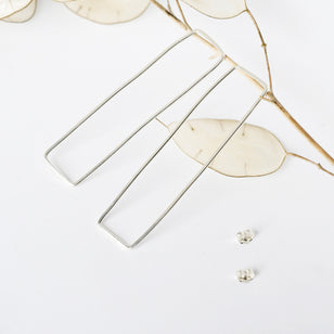 RECTANGLE STUDS - Ohrringe aus recyceltem Silber