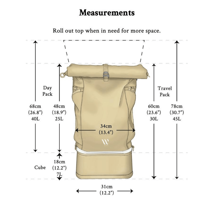 TRAVEL BACKPACK - 3 in 1 Reiserucksack