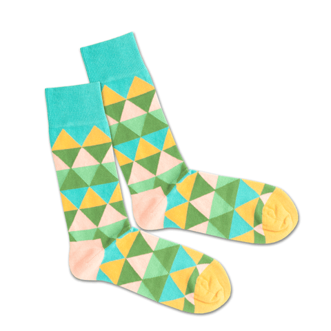 Thumbnail for TRIANGLE SUMMER - Socken aus Bio-Baumwolle