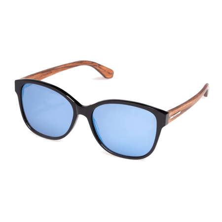 WALLERSTEIN - Sonnenbrille - Black Oak/Walnut