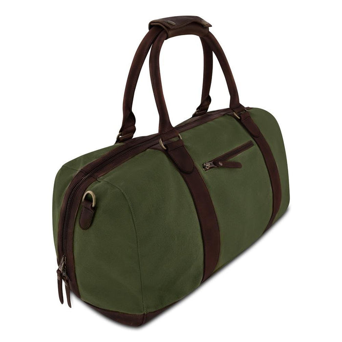 WILLOW -  Weekender aus Canvas und Leder___Color---Oliv