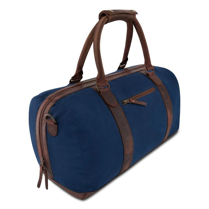 WILLOW -  Weekender aus Canvas und Leder___Color---Blau