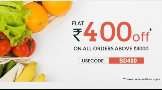 USE CODE: SD400,MINI ORDER ABOVE 4000RS