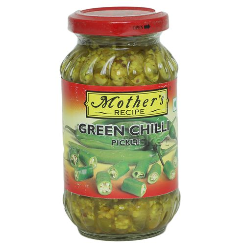 Mothers Recipe Pickle - Green Chilli, 300 g Jar