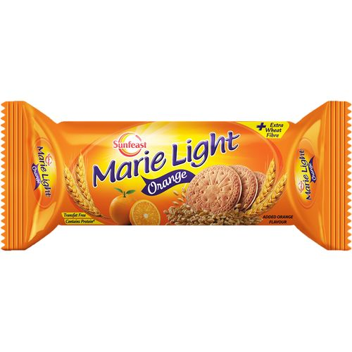 Sunfeast Marie Light Biscuit - Orange, 75g Pouch pack of 2