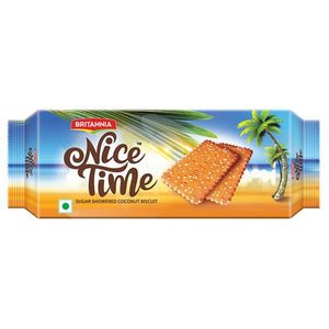Britannia Nice Time - Sugar Showered Coconut Biscuits,