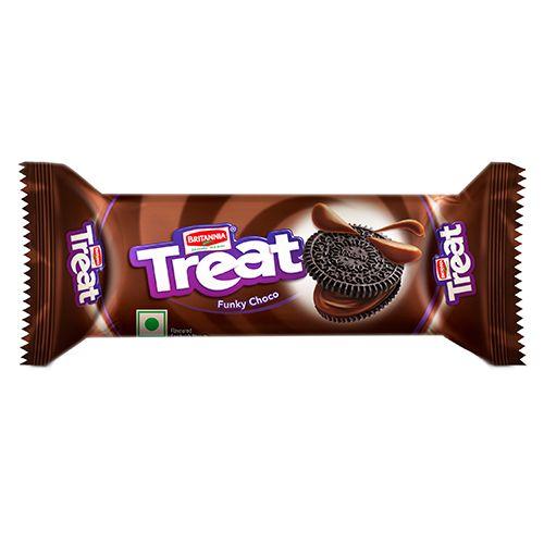 Britannia Treat - Funky Choco Biscuits, 60 g Pouch Pack Of 2