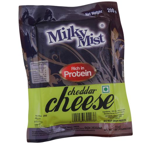 Milky Mist Cheese - Cheddar, 200 g Pouch