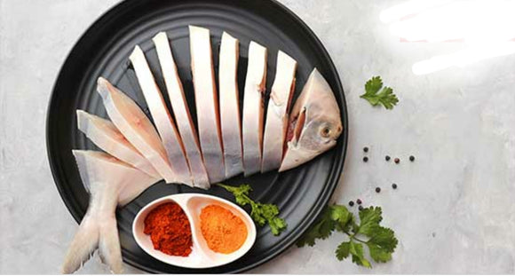 White Pomfret(Curry Cut)(.2kg-.25kg)