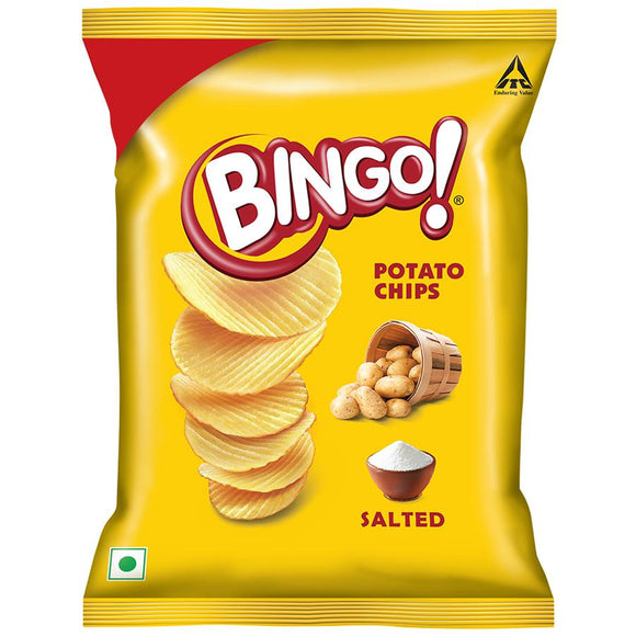 Bingo Potato Chips - Salted, 61.6 g Pouch