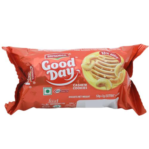 Britannia Good Day Cookies - Rich Cashew, 58 g Pouch pack of 2
