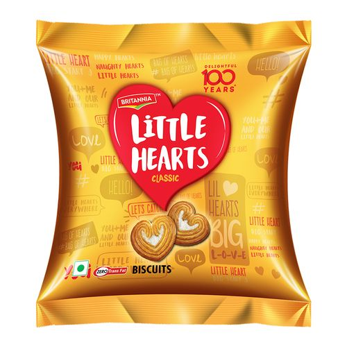 Britannia Little Hearts Biscuits 74g