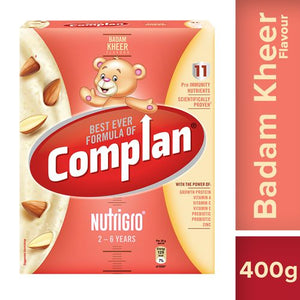 Complan NutriGro for Toddlers - Badam Kheer Flavour, 2-6 Years, 400 g Carton