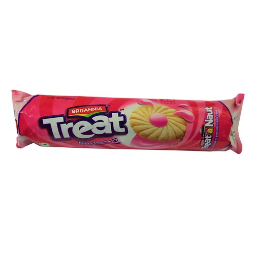 Britannia Treat - Strawberry Biscuits, 60g Pouch Pack of 2