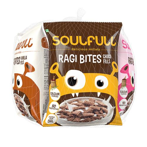 Soulfull Ragi Bites - Choco/Vanilla Fills, 35 g Pack of 6