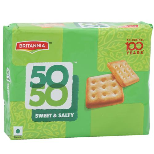 Britannia Biscuits Sweet&Salty - 50-50, 150 g Pouch