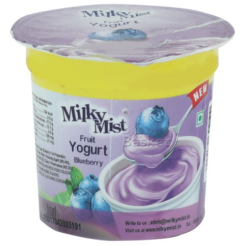 Milky Mist Fruit Yoghurt - Blueberry, 100 g