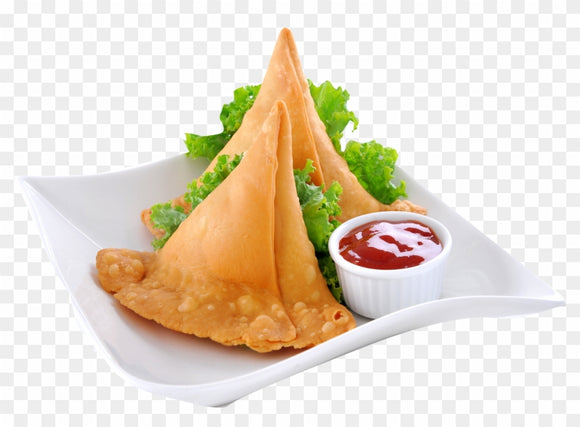 Goodfood aloo samosa  pack of 2 including packing charge,available time 10am To 7pm