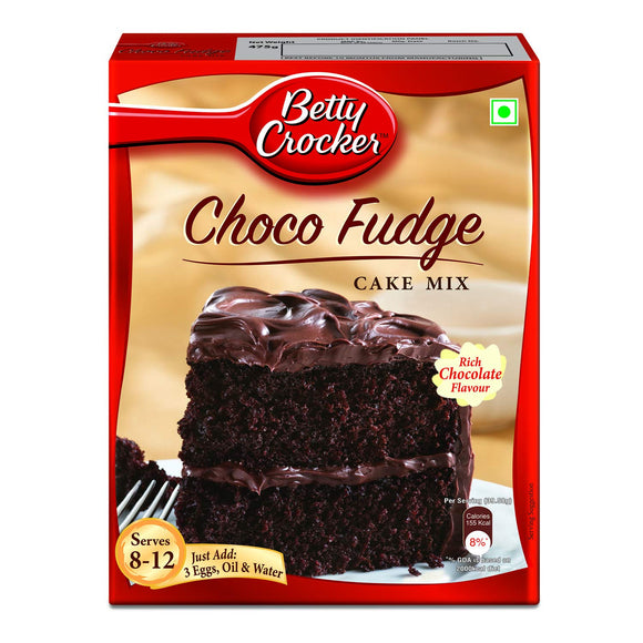 Betty Crocker Cake Mix, Choco Fudge Rich Chocolate, 475 g