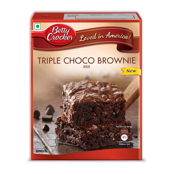 Betty Crocker Brownie Mix, Triple Choco Brownie, 425 gm