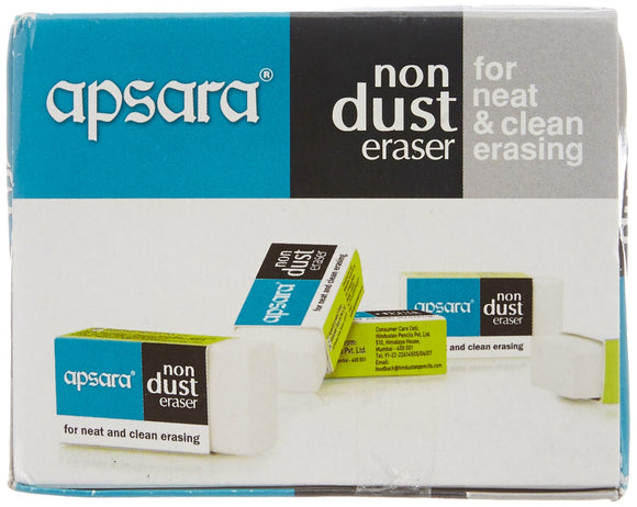 Apsara Non Dust Regular Eraser (5 piece pouch)