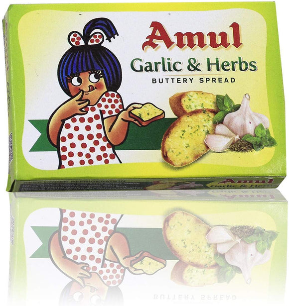 Amul Buttery Spread - Garlic and Herbs, 100g Pack