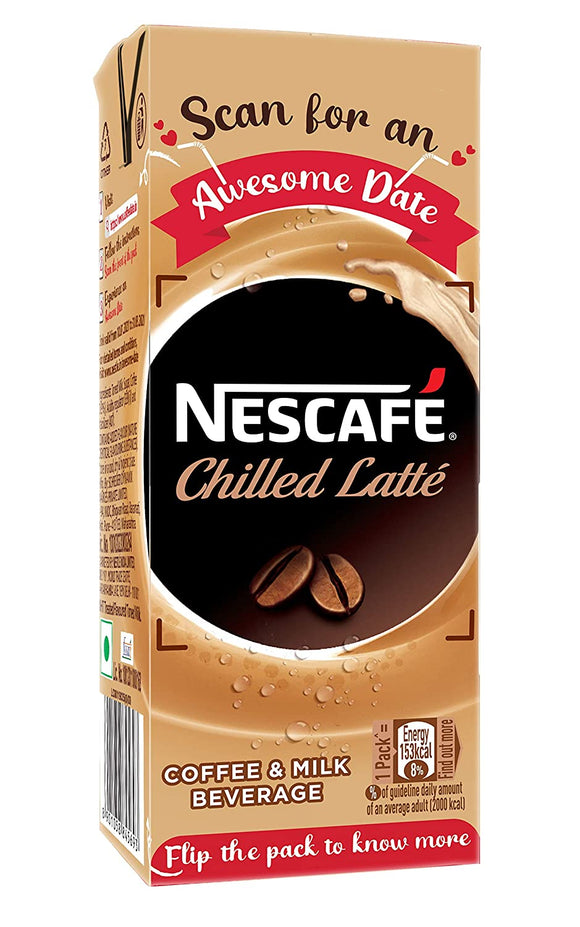 Nescafe Ready to Drink Chilled latte Coffee Tetra Pack, 180ml