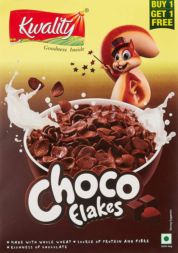 Kwality Choco Flakes, 375g (Pack of 2)