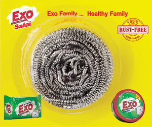 exo safai steel scrubber pack of 2