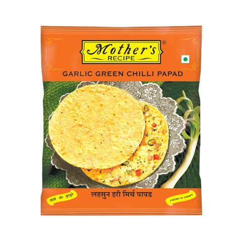 Garlic Green Chilli Papad