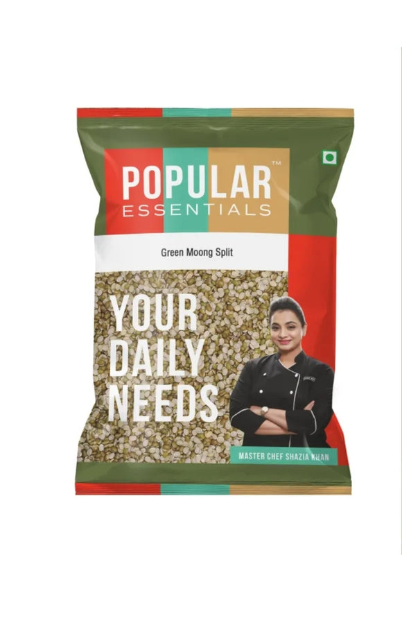 Popular essentials  Green Moong Split 500g