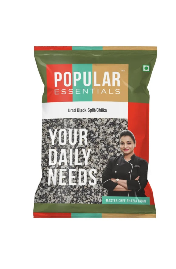 Popular essentials Urad Black Split/Chilka 500g