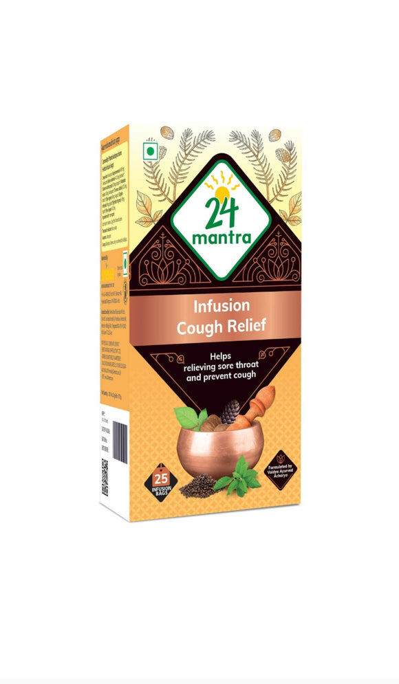 24 Mantra Ayurvedam Courgh Relife 10 Bags