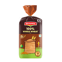 Britannia 100% Whole Wheat Bread 450 gms