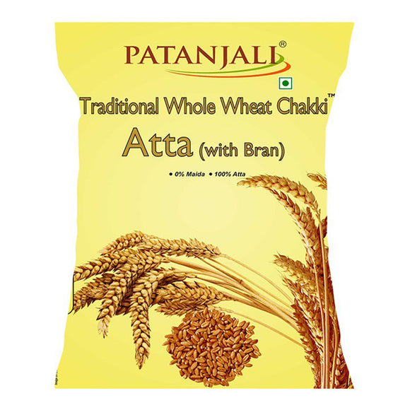 Patanjali Chakki Atta - Whole Wheat, Traditional, With Bran