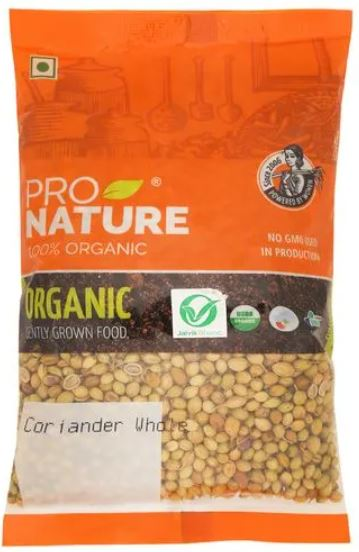 Pro Nature Organic - Coriander Whole, 200 g Pouch , Coriander seeds [b]