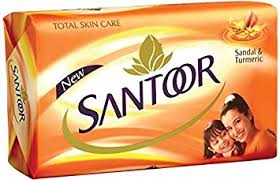 santoor sandal & turmeric bathing bar 150g