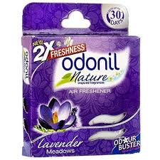 odonil nature air freshner,lavender meadows,75g box