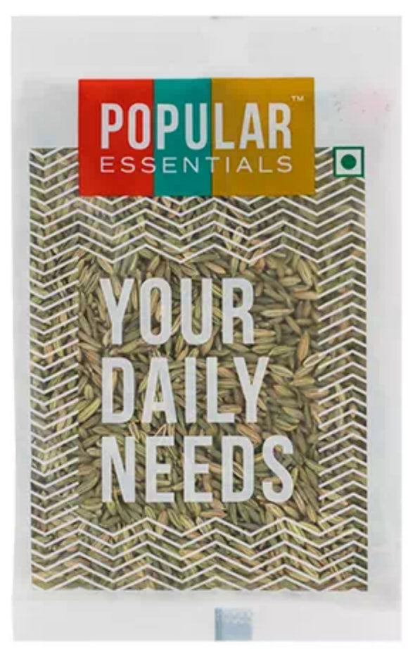 popular essentials fennel seeds(saunf)big 100g
