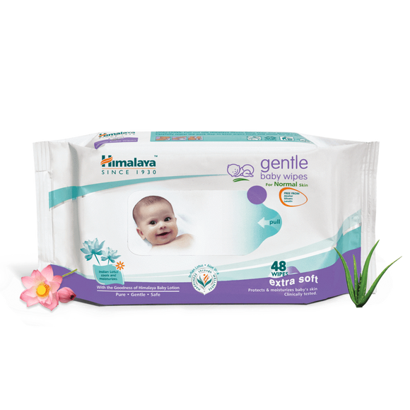 himalaya gentle baby wipes for normal skin