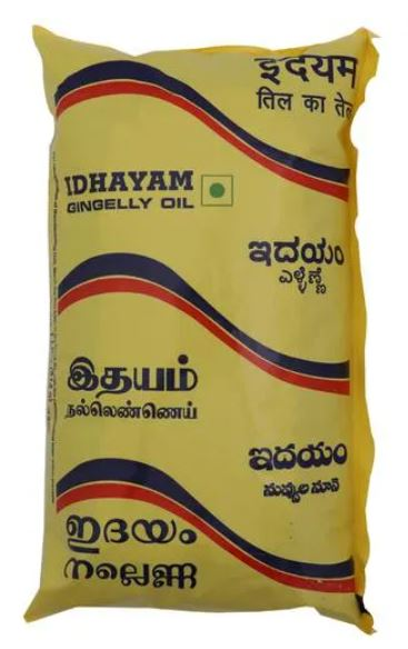 Idhayam Oil - Gingelly Pouch [b] (1L-MRP 325) , (500ml MRP-165)